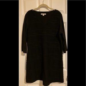 NWOT Liz Claiborne black v-neck dress.